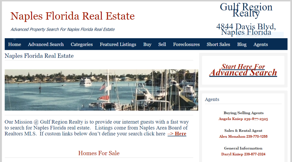 Advanced Property Search Naples Fl via WordPress